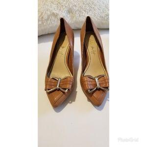 ABS Sandalwood Anastasia Pointy Toe Leather Pump